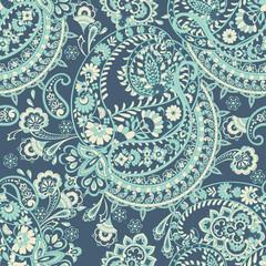 paisley seamless pattern. damask vector background