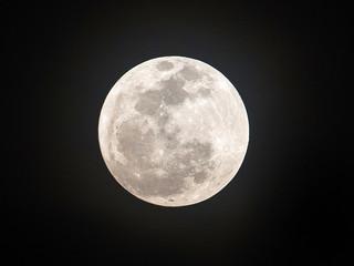 Full moon on the night of the dark sky