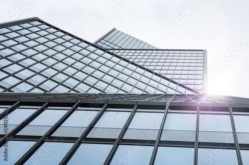 Bureau Moderne En L : Immeuble building bureau banque affaire business vitre verrière