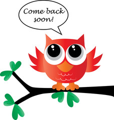 come back soon sweet little red owl
