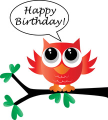 happy birthday sweet little red owl