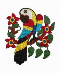 Macaw , pop dot halftone macaw