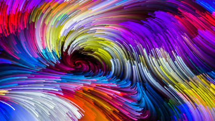 Dance of Colorful Paint