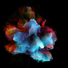 Intricate Color Splash Explosion