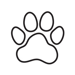 Animal's (dog's) paw print