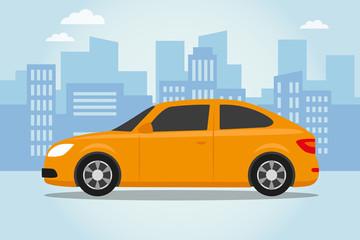 Car on the city