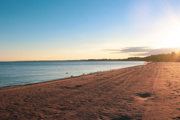 Stunning views of Lake Erie: Port Stanley Ontario Canada: