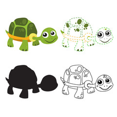 turtle worksheet vector design