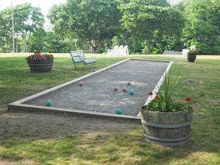 bocce ball game court at old hotel Shelter Island, New York