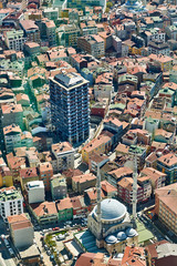 View of the roofs of Istanbul.