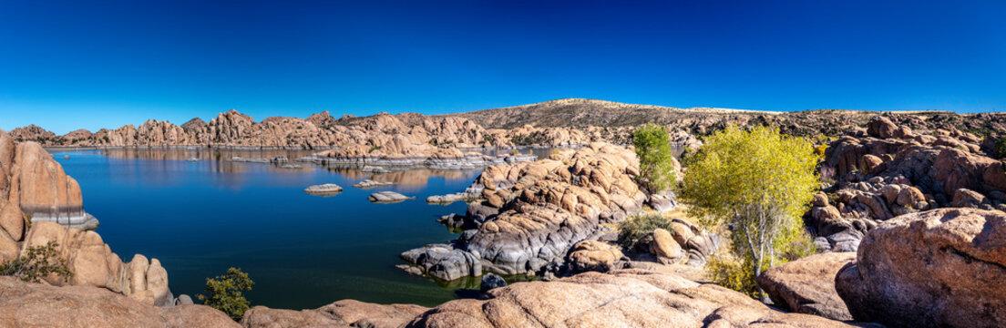 Picturesque Watson Lake in the Granite Dells of Prescott Arizona.