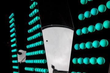 Abstract neon modern dots lights