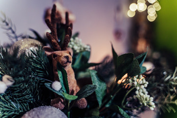 Isolated Handmade Christmas and New Year Decorations