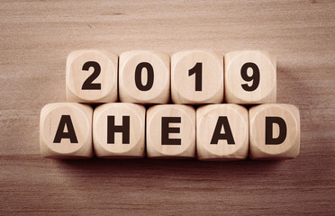 Year 2019 Ahead Concept Sign