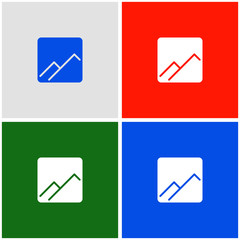 gallery glyph flat icon, material design color, vector illustration