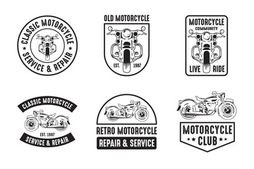 Motorcycle badge and logo, good for print