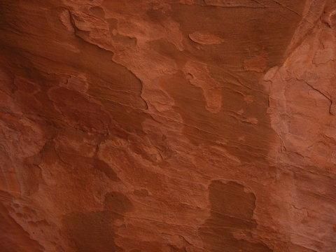 Closeup of Slick Red Rock Texture or Background, Moab, UTah