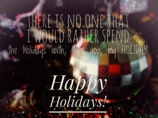 Text label, funny happy holiday quote, illustrations