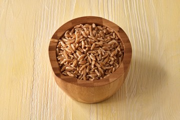 Rustic bowel wit grain