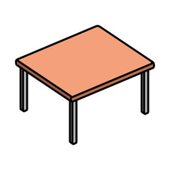 table wood isolated icon