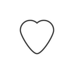 Heart outline icon. linear style sign for mobile concept and web design. Love heart simple line vector icon. Favorite symbol, logo illustration. Pixel perfect vector graphics