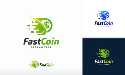 Fast Coin Logo designs concept vector, Fast Cash logo template, Money logo designs
