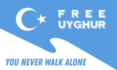 Save Uyghur Background Banner vector,  Free Uyghur Banner