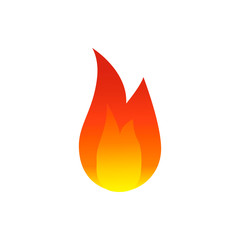 Flame fire icon. Colorful Vector illustration.