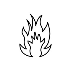 Flame fire pictogram. Vector illustration.
