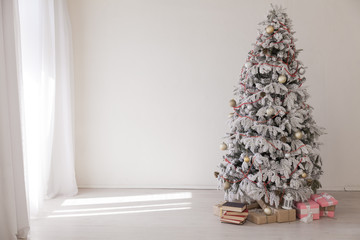 Christmas background Christmas tree new year gifts decor decoration holiday winter