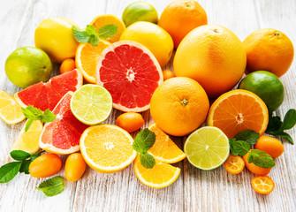 Fresh citrus fruits Fototapete