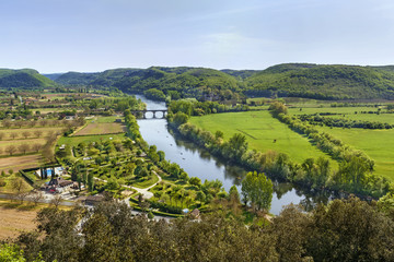 View of Dordogne river, France