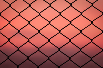 Iron metal wire chain link fence