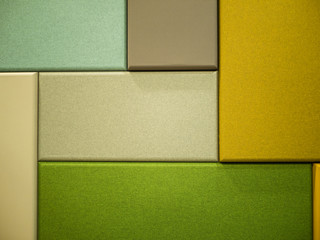 Rectangle colored fabric boards