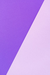 Purple and lilac color papers geometric flat lying as background and template. Abstract vertical background.