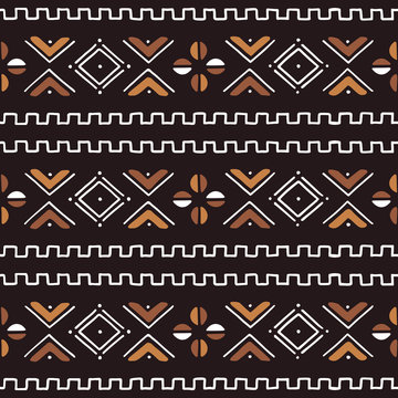 Textile fashion African print. Tribal seamless pattern.