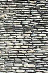wall of stones garden