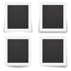 Vector illustration realistic old retro photo frames set