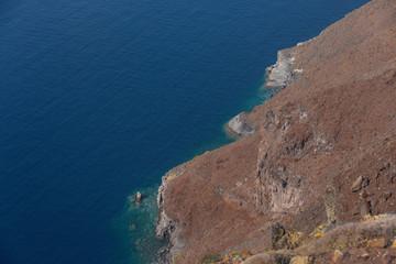 Imerovigli, Santorini, Greece - October 22, 2014: Skaros Rock. Caldera View  - Immagine