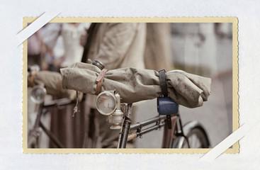 Retrofoto mit einem Fahrrad