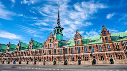 The Old Stock Exchange (Danish: Boersen) in Copenhagen, Denmark. Built in 1625, it is one of the oldest buildings in Copenhagen. It was built under King Christian IV.