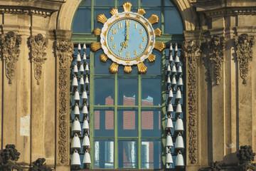 Dresden - Zwinger -Südtor Uhr