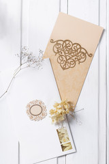 Bright wedding invitation card