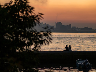 couple at riverside