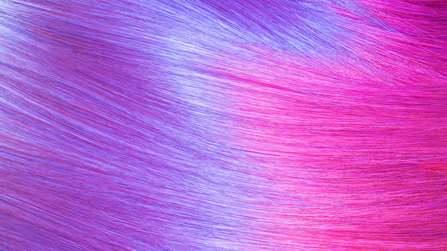 Colorful hair texture background. Holographic iridescent colors