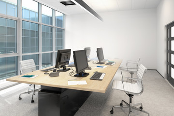 Common Computer Workplace Design (conception) - 3d visualization