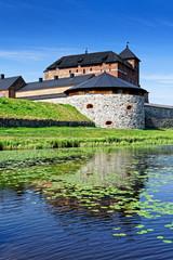 Burg Häme am Vanajavesi See in Hämeenlinna, Finnland