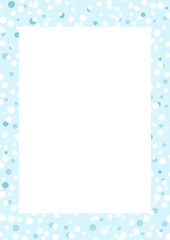 Blue frame with snowflakes