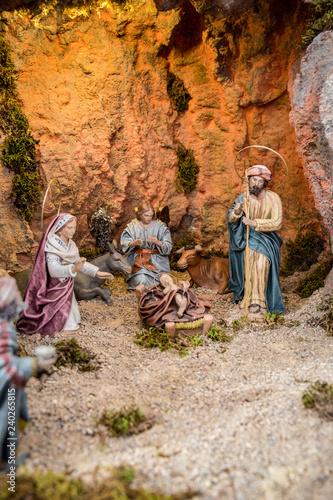 Fotos De El Pesebre De Jesus.Pesebre De Navidad Con Jesus Maria Y Jose Stock Photo And