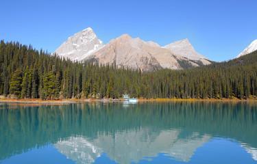View of Maligne lake in Jasper national park